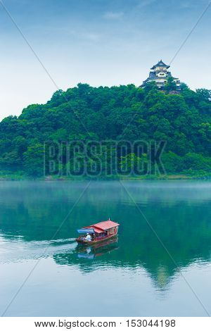 Inuyama Castle River Tourist Boat Telephoto