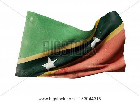 Federation Of Saint Christopher And Nevis Flag Waving