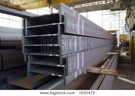 Steel Components In A Warehouse