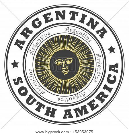 Grunge rubber stamp with word Argentina, South America inside, vector illustration