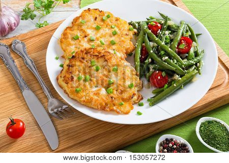 Chicken Breast. Cheese And Onion Chopped  Cutlets