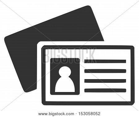 id card icon vector isolated speech print