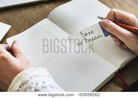 Dare Dream Goal Inspiration Motivation Target Concept