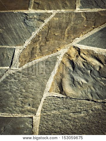abstract background or texture detail stone paving with rubble stone