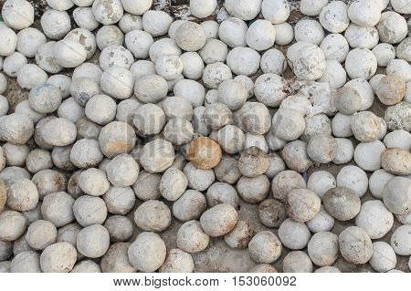 White pebbles stone Gravel texture and background