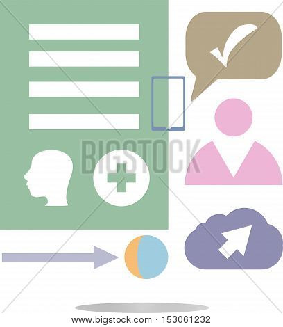 Thin Line Icon With Flat Design Element Of Business Chart, Success Corporation Stats, Corporate Data