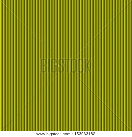 Pattern texture of crumpled paper in the volume of vertical lines for notes. Can be used for wallpaper, pattern fills, web page background, surface textures. Yellow galousie.
