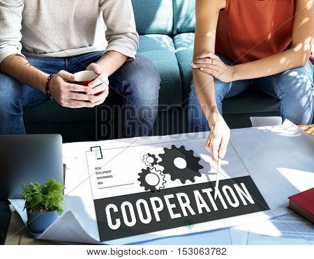 Cooperation Business Team Organization Concept
