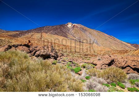 View Of The Mount Teide At The National Park