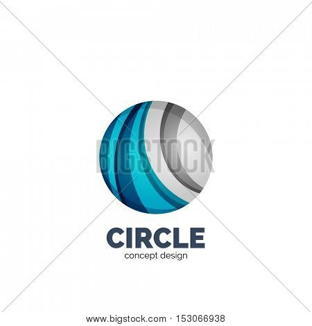 abstract circle logo, business icon