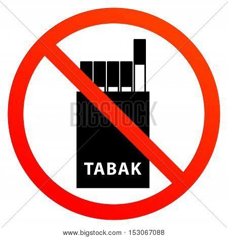 No smoking sign or symbol, vector illustration