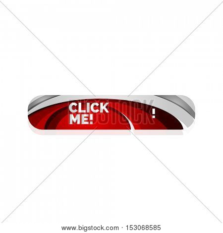 abstract button template. Minimalistic geometric clean style