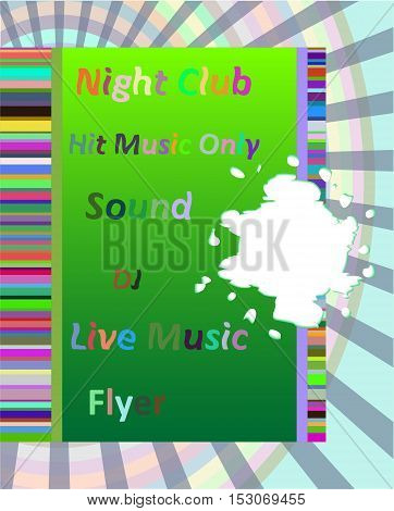 Vertical Music Party Background With Colorful Graphic Elements And Text.