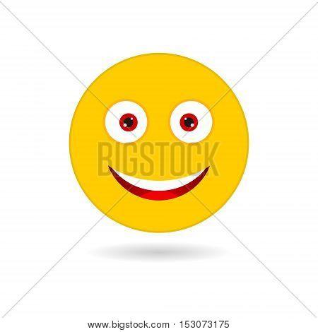 Vector Yellow smile icon on white background
