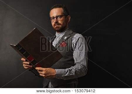 Fashionable Male Teacher With A Book