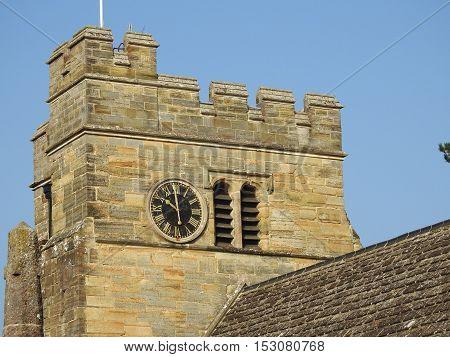tower at Rusper Church West Sussex England
