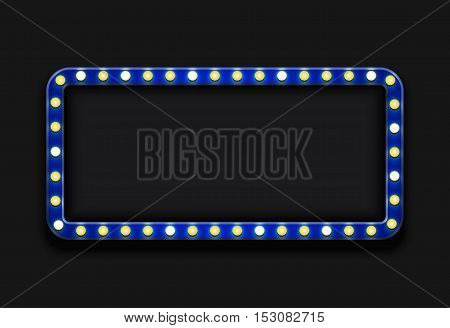 Vector modern blue retro billboard background with place for your text