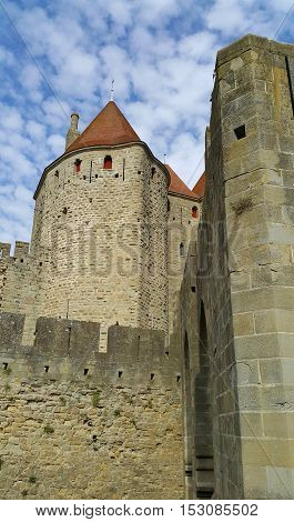 Medieval castle of Carcassonne Languedoc- Roussillon France
