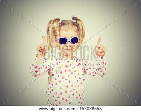 Little Fashion Girl In Sunglasses