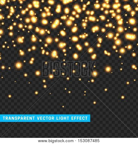 Vector with transparency light effect sparkle. Glitter background bright Christmas lights. Colourful Glowing Christmas Lights. Shining vector illustration