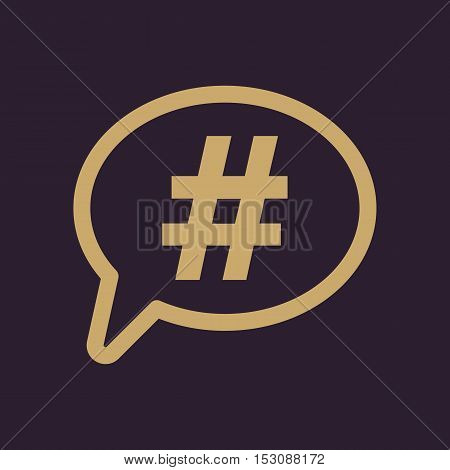 The hashtag icon. Social network and web communicate symbol. Flat Vector illustration