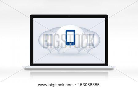 Smart Phone Mobile Internet Networking Talk Concept