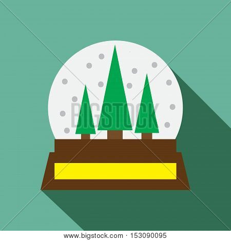 Snow globe vector icon. Christmas vector icon. Button for websites, elements for booklets, leaflets, brochures, logos, etc