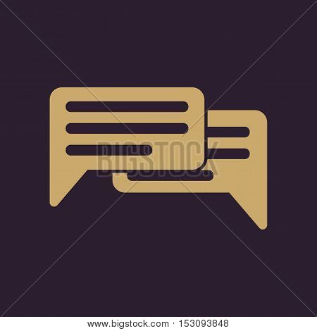 The chat icon. Internet and forum, blog, online symbol. Flat Vector illustration