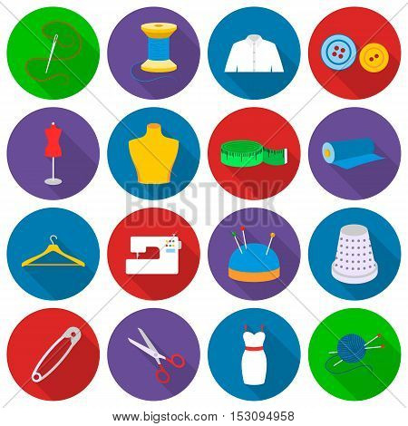 Atelie set icons in flat style. Big collection atelie vector symbol stock