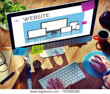 Web Design Layout Content Devices Graphic Concept