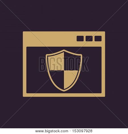 The antivirus icon. Firewall and safety, protection, website symbol. Flat Vector illustration