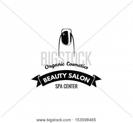 Manicure Badge. Ribbon Decorations Vector Illustration. Isolated