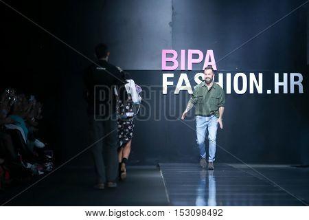 Bipa Fashion. Hr Fashion Show: Robert Sever, Zagreb, Croatia.