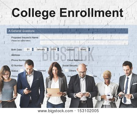 College Education Learning Document Form Concept