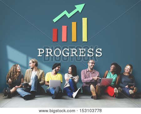 Finance Economic Progress Analysis Concept