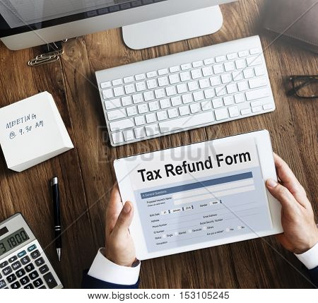 Tax Credits Claim Form Concept