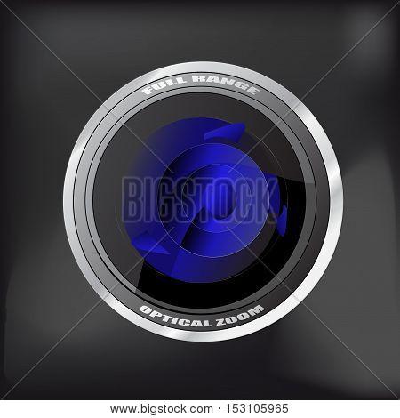 Vector camera - symbol of lens - illustration