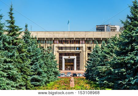 Administration building in the downtown of Almaty in Kazakhstan