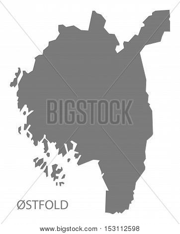 Ostfold Norway Map grey illustration high res