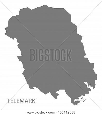Telemark Norway Map grey illustration high res