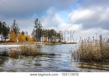 Autumn Landscape On The Coast Of The Ob River In Siberia