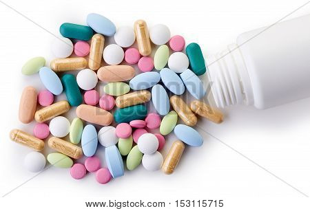 Various Colorful Dietary Supplements