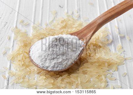 Spoon Of Rice Flour