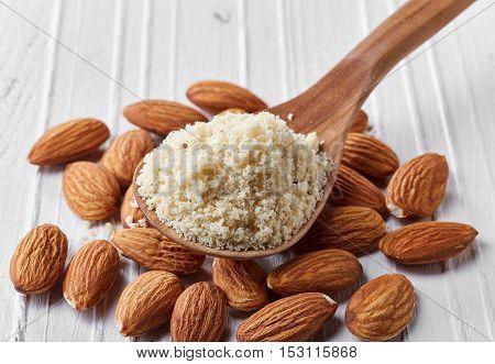 Spoon Of Almond Flour