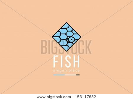 logo pattern in the form of fish scales in a rhombus