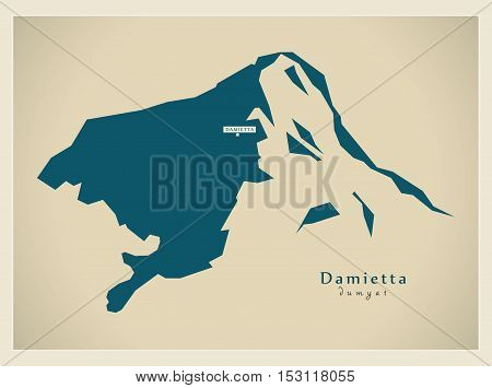 Modern Map - Damietta EG vector high res