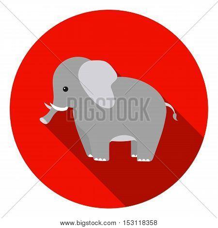 Elephant icon in flat style isolated on white background. Animals symbol vector illustration.