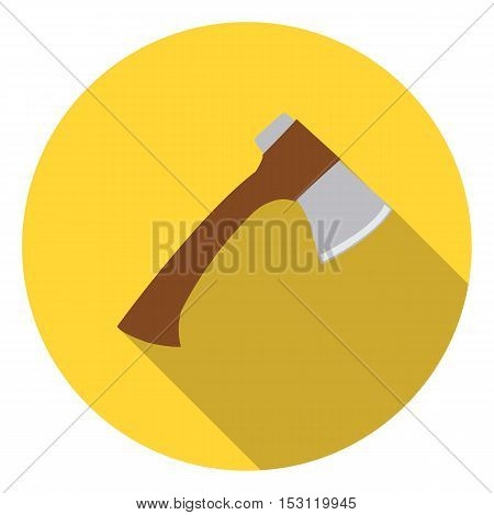 Axe icon in flat style isolated on white background. Camping symbol vector illustration.
