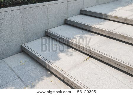 Outdoor Stairway With Gravel Texture ,landscape Architecture
