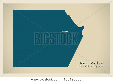 Modern Map - New Valley EG vector high res